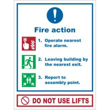 Dependable Fire Action Signs Do Not Use Lifts