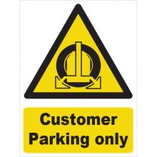 Dependable Customer Parking Only Signs