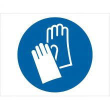 Dependable Wear Protective Gloves Symbol Signs