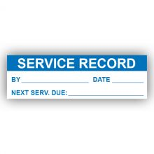PremPak Write-On Labels - Service Record