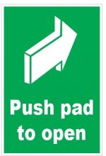 Dependable Push Pad to Open Signs - Arrow