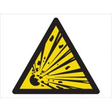 Dependable Warning! Explosive Material Symbol Signs