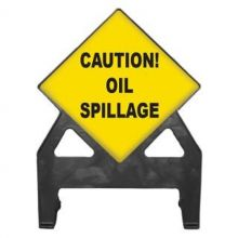 Dependable Caution Oil Spillage Poly Sign