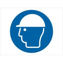 Dependable Wear Head Protection Symbol Signs