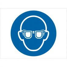Dependable Wear Eye Protection Symbol Signs
