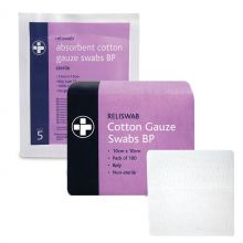 Reliance Reliswab Cotton Gauze Swabs - Non Sterile
