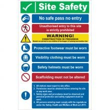 Dependable Site Safety No Safe Pass No Entry Signs