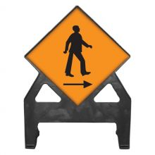Dependable Pedestrians Cross Right Poly Sign