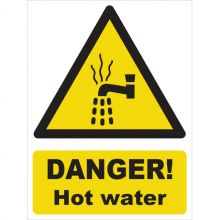 Dependable Danger! Hot Water Signs