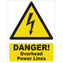Dependable Danger! Overhead Power Lines Signs