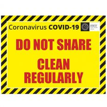COVID-19 Do Not Share A4 Label