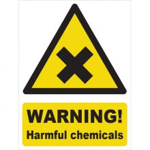 Dependable Warning! Harmful Chemicals Signs