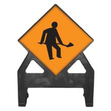 Dependable Roadworks Ahead Poly Sign