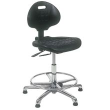 KDM Cleanroom Chair with Glides and Footring