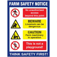 Dependable Farm Safety Notice Sign