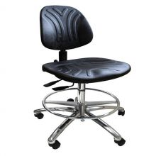KDM ESD-Safe Praktic Cleanroom Chair with Castors and Footring
