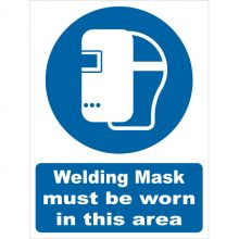 Dependable Welding Mask Must Be Worn Signs