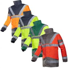 Sioen Skollfield Hi-Vis Jacket with Detachable Bodywarmers