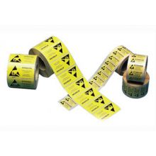 Pelstat ESD Warning Paper Labels