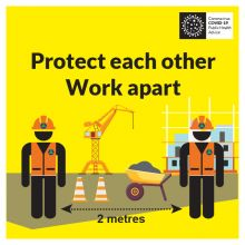 COVID-19 Protect Each Other Work Apart Sign