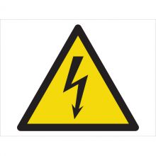 Dependable Warning! Electricity Symbol Signs