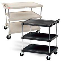 Metro MyCart 3-Shelf Polymer Utility Carts
