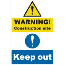 Dependable Warning Construction Keep Out Signs