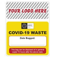 COVID-19 Waste Date Label
