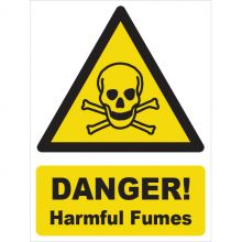 Dependable Danger! Harmful Fumes Signs