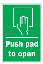 Dependable Push Pad to Open Signs - Picture