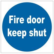 Dependable Fire Door Keep Shut Signs
