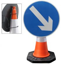 Dependable Reversible Arrow Cone Sign