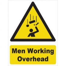 Dependable Men Working Overhead Signs