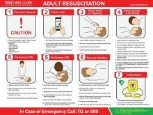 Dependable Adult Resuscitation Guide Signs