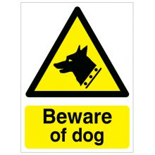 Dependable Beware of Dog Sign