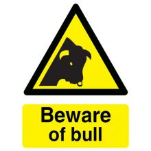 Dependable Beware of Bull Sign