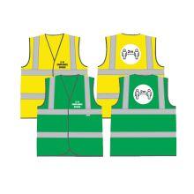 Dependable COVID-19/CIF Compliant Hi-Vis 2-Band Vest