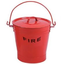 Dependable Metal Fire Bucket with Lid