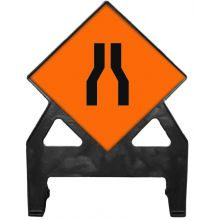 Dependable Road Narrows Poly Sign