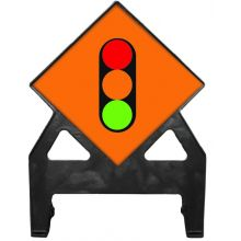 Dependable Temporary Traffic Signals Poly Sign
