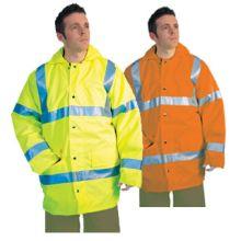 Dependable Hi-Vis Lined Rain Jackets