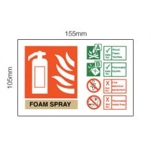 Dependable Foam Spray Sign