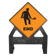 Dependable Roadworks End Poly Sign