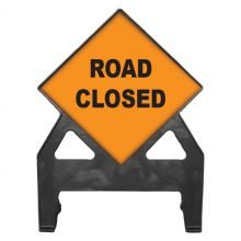 Dependable Road Closed Poly Sign
