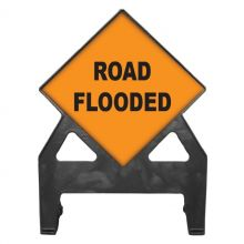 Dependable Road Flooded Poly Sign