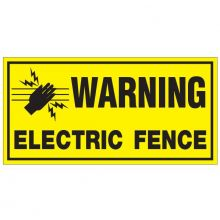 Dependable Electric Fence Warning Signs