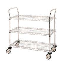 Metro Chrome Wire Trolleys 3 Shelf