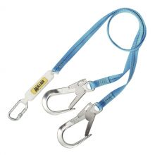 Miller Titan 2M Webbing Forked Lanyard with Scaff Hooks