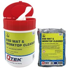 QTEK ESD Mat & Worktop Cleaner Wipes