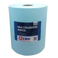 QTEK Multipurpose Wipe Roll Blue